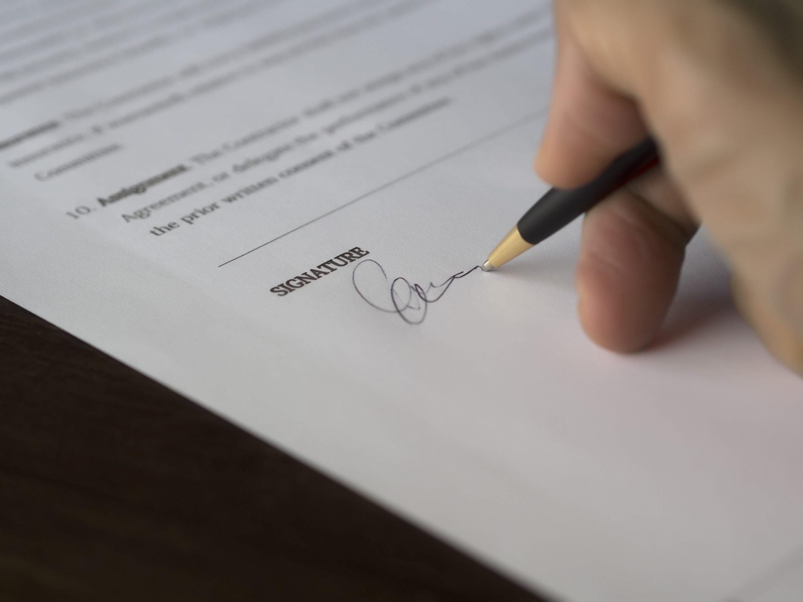niet ondertekende verwerkersovereenkomst